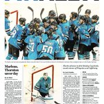 Thursdays sports cover: Sharks off to 1st Cup finals (Coverage: https://t.co/ToOWxtYsF7) @MercPurdy @CurtisPashelka https://t.co/hxJc51IVs3