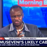 David Pulkol: President Museveni has previously gone for tokenism when naming his Cabinet. Expect the same. https://t.co/otVBgiXzcG
