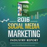 2016 #SocialMediaMarketing Industry Report https://t.co/a4wcz80F3M by @Mike_Stelzner #SocialMedia #Marketing https://t.co/Ebwcgs6pfh