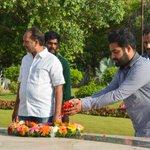 Tarak @tarak9999 visited NTRGhat today to pay his respects as hell b in Chennai on May28th for #JanathaGarage shoot https://t.co/yGdWKar6U6