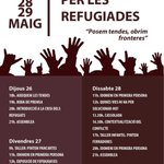 Prepareu la tenda. Aq tarda ens plantem x les refugiades #refugeeswelcome @GironaAcull #Idomeni #openborders https://t.co/EuYmxSMpiJ