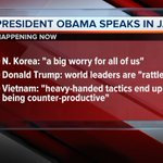 Some of what @POTUS touched on w/reporters just now in Japan. You saw it #LiveAlert on @WCPO #9wakeup https://t.co/zJkR1ca6NV