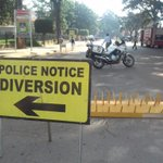 Roads around the high court have been closed ahead of terror judgment today. Photo/@alubowa1 @DailyMonitor https://t.co/KvFep3jJHq