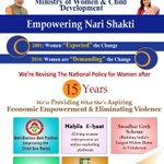 Shri @narendramodi 's Govt. is revising #NationalPolicy4Women after 15 years! #TransformingIndia #VikasParv https://t.co/OroKj1sq1o