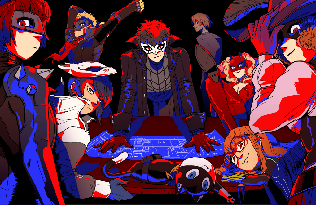 persona 5 print for fanime this weekend!  table 1601 with @mykenbomb ! https://t.co/F5eZenV1ZF