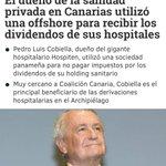 De cada 100€ de dinero público para Sanidad en Canarias, 65€ se van a la privada. Y sí, regresa muy poco #Saqueo https://t.co/Br45HOHIGb