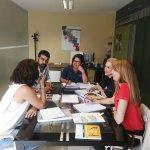 """Sesión de trabajo en Mesa seguimiento Proyecto """"+ Iguales Soldando""""  @Femete @IFE_Escola  @SocDesarrollo https://t.co/WSoxMTuUM0"""