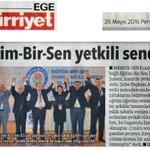 BASINDA BİZ -Eğitim-Bir-Sen İzmirde yetkili sendika oldu Hürriyet Ege / 26.5.2016 https://t.co/t901aM2gKu
