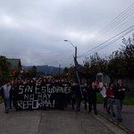ya comienzan a Marchar en PUREN , el Sur se suma a #MarchaEstudiantil #ChileSeCanso https://t.co/GoFtnlYbTr