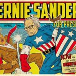 This is how a #BernieTrumpDebate looks like in comic book format. @BernieSanders is coming for you @realDonaldTrump. https://t.co/UcgbAzmGBe