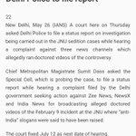 JNU doctored video : Delhi Govt case against 3 News Channels Court asks Delhi Police to file report https://t.co/ZjadjDcD9L