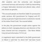 JNU doctored video : Delhi Govt case against 3 News Channels  Court asks Delhi Police to file report https://t.co/ZjadjDcD9L