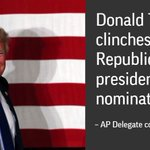 BREAKING: @AP finds Trump reached the number of delegates needed to clinch the Republican nomination for president. https://t.co/DWWeAfBEHa