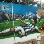 El mural que le hicieron los hinchas a Rodrigo Burgos en Villa Revol. https://t.co/aWYp4VECqn