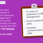 Apply today to become an HR Manager at a top #Boston law firm: https://t.co/uSHupnUSYT #hrjobs https://t.co/atnnHUhopG