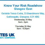 Last day for @Diabetesuk #KnowYourRisk roadshow in #Glasgow. Pop down to say hello to Lorraine! https://t.co/n9DCKihyLR