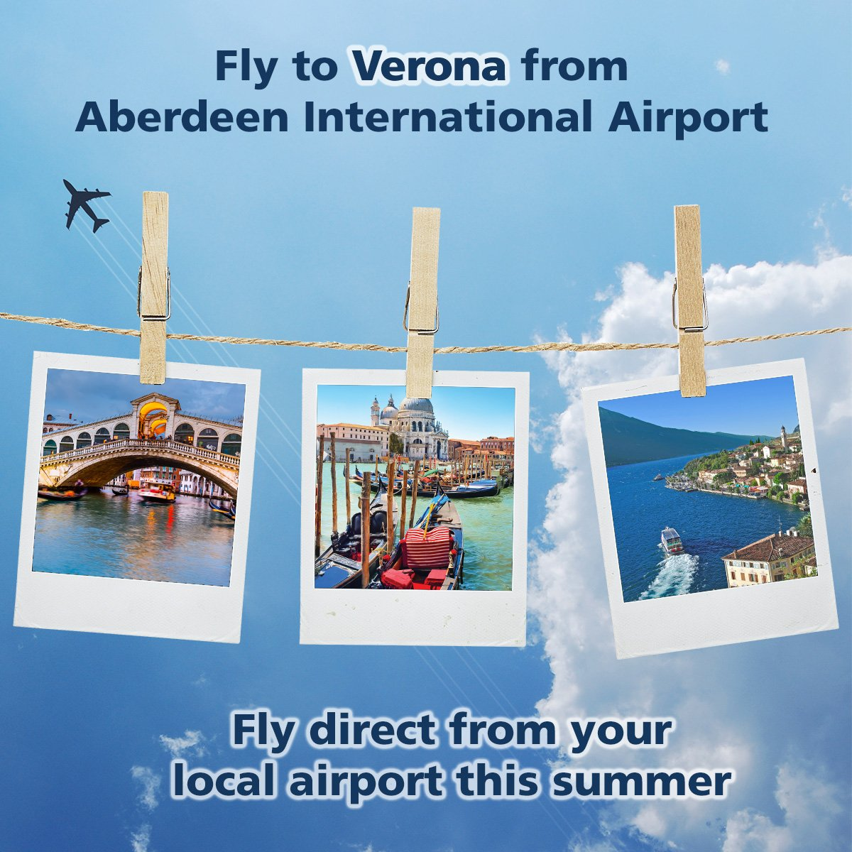 Fly direct to Verona, Italy, from your local airport this summer!
