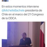 Que hace Bachelet en congreso de partidos demócrata cristianos? #ODCA #NoEsDemocrata #NoEsCristiana https://t.co/2yzgAgcrVS