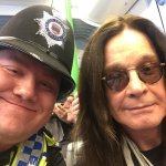 PC Riddell with @OzzyOsbourne at the opening of his Midland Metro Tram. Credit @BTP Visit: https://t.co/UuGhLUQEH2 https://t.co/YjI0fuUW74