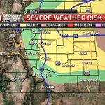 Risk area for severe storms has been extended S to show a greater risk along HWY-50 and areas to the N. #cowx #kktv https://t.co/SZEl27CldU