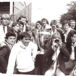 Villa players back at Villa Park with the cup. #avfc #34years #Smile https://t.co/49AjToyTg4