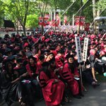 About to graduate! #HBS2016 joins 32,000 grads and guests in Harvard Yard #HBS2016 #Harvard16 https://t.co/K0HhMcsoR7