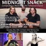 .@SnackMidnight is killer mayhem music fun @HollywoodImprov SAT May 28 11:45! #FREE #LOSANGELES party town. https://t.co/BS9Eue6yJP