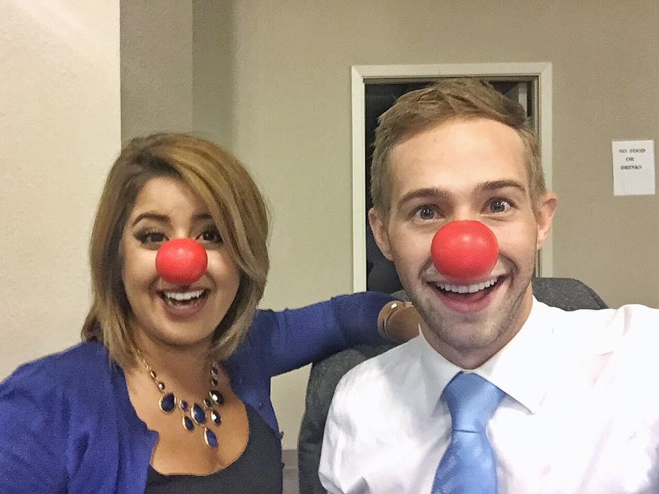 Happy #RedNoseDay from the @KYMA11 #11Sunrise team - @MaxTarlton & @asalrezaeitv - @NBCNews @RedNoseDayUS @TODAYshow https://t.co/mTIHloaxM0