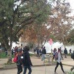AHORA: Marcha secundaria es reprimida por FFEE en Parque Bustamante empujados hacia Irarrázaval. Mucha lacrimógena. https://t.co/I8UuwNO8Ux
