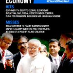 Economy- Hit: GDP over 7% despite global slowdown; Miss: No sign of a pick up in job creation #2YearsOfModiGovt https://t.co/UxHiRFPSpa