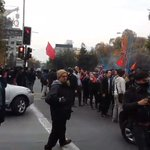 A pesar de fuerte represión Policial, Estudiantes se reagrupan en distintos puntos d parque bustamante #ChileSeCanso https://t.co/WWYs7UaXIS