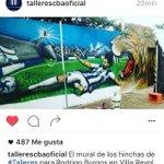 El mural de hinchas de Talleres de Cordoba para Rodrigo Burgos @futbolistapy https://t.co/eYXVyZVLM6