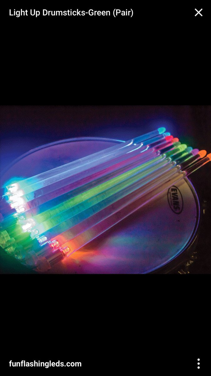 """4 pic. #S/O to my Guitar Player """"Skeeter"""" for Surprising me w/these Light-Up Drumsticks ????????????"""