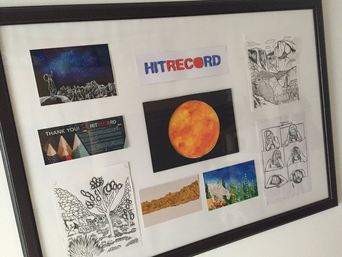 RT @Pa_Tasha: finally framed! ???? happy @hitRECord moments https://t.co/zGkiH3HWzf