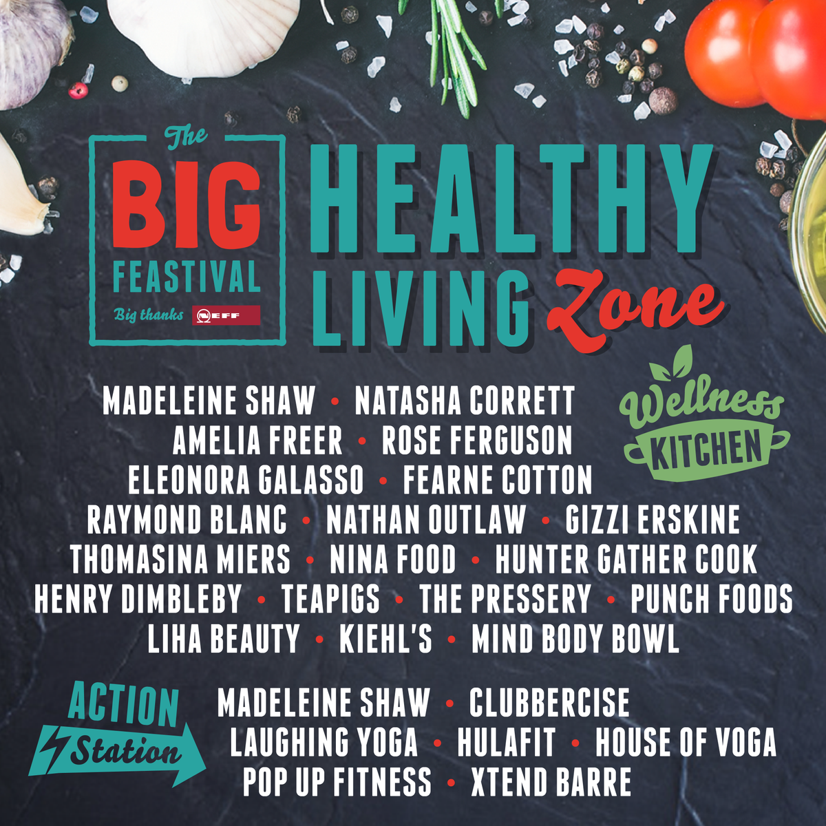 Excited to announce the line-up for my healthy living zone @thebigfeastival this year!! https://t.co/n9pFkPlhu1 https://t.co/1z2ZBT4QkE