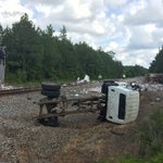More from the scene in Lamar County, train vs garbage truck. https://t.co/l10uMKURxh