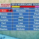 With the tropics heating up, its a good time to remind you of the Atlantic hurricane names for the 2016 season. https://t.co/6Z3cVGKLnd