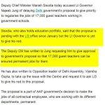 LG delaying Delhi govts proposal to regularise 17000 guest teachers in Delhi since Jan 2016 https://t.co/mUBMyRV4En