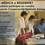 A asociación ACMAS de Valencia busca Médica o Residente para un proyecto este verano en Senegal. Infórmate... https://t.co/2DXF85PHwF