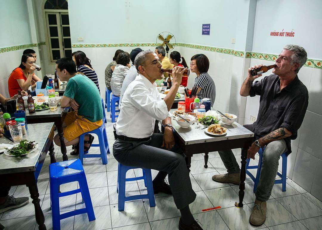 Reaction in Hanoi to the fact that the President chose to eat Bun Cha was beyond imagining. https://t.co/wmbfOdMBI4 https://t.co/hVf3tHP34i