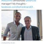 Rio With new Man Utd manager Jose https://t.co/7iyH2BiefV