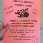 Rtrtrtrtrt come watch your fav teachers get beat in kickball 😛😛🙌🏼 all proceeds to the brooks family. https://t.co/zbEPVieW2B