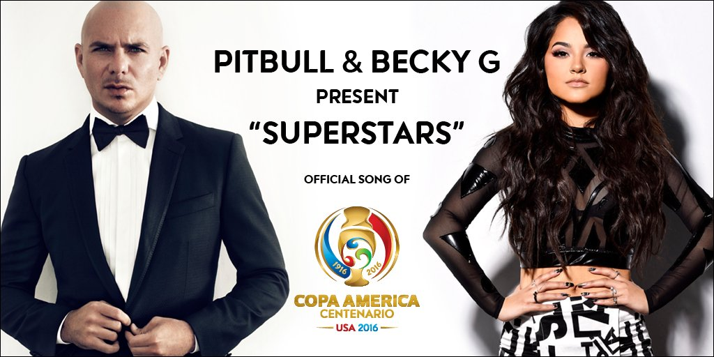 Grammy-Winning Artist @pitbull teams up with @iambeckyg for #CA2016 Official Song https://t.co/Ff7MwIzeX8 #Copa100 https://t.co/MB0W6gOERt