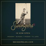 #SwingersLDN is now... OPEN! Come down and join us at the best new bar in #London. https://t.co/MEvndu5JdZ