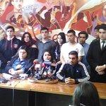 Comenzó conferencia de prensa del mov estudiantil. No permitiremos de nuevo lo sucedido hoy. #MarchaEstudiantil https://t.co/ZuzGJi6XKb