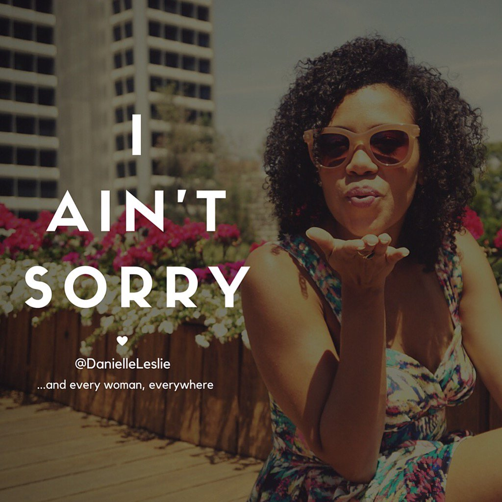 #iantsorry was my anthem at #EmpowerHer16. Six months self-employed, my 1st MC gig, 100% women speakers