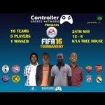 Kampala Tree House Ntinda is proud to host the Fifa16 Tournament this Saturday with @KazooraKazman ready and set???????? https://t.co/tZiTGMmEwX