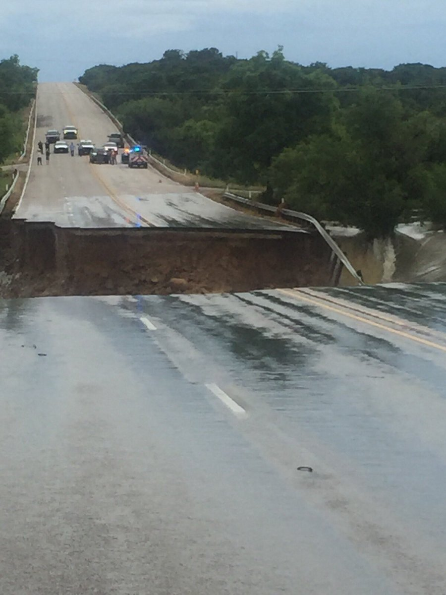 Photo: Highway 6 washed out near Lake Cisco in Eastland ...