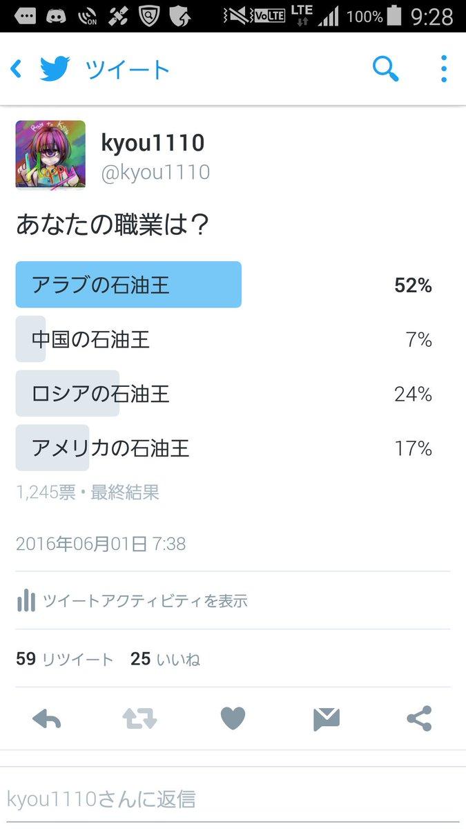 ツイッターで石油王をお求めの皆様へ、朗報です!当方しらべでは1245人の石油王がおり、その内52%がアラブの石油王だということが判明しています!日本語ではなく、アラビア語を利用した呼び掛けが効果的です! https://t.co/FqThus39Nu