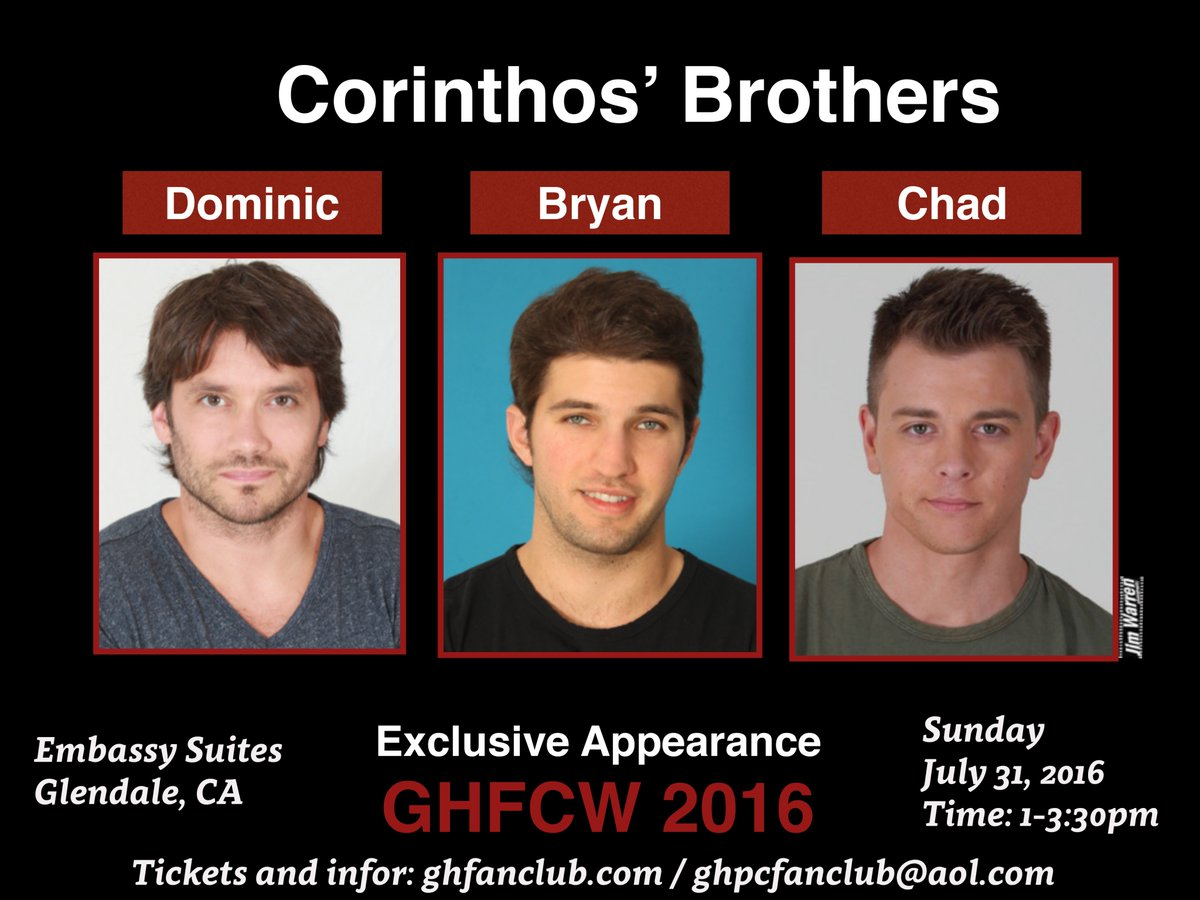 Pls RT Three brothers, what more could you ask for? Join @dom_zamprogna @duelly87 @bryan_craig at GHFCW 2016 https://t.co/Ck9cHKrkN8